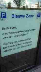 Geen parkeerschijf? Dus een boete in Breskens in de gemeente Sluis